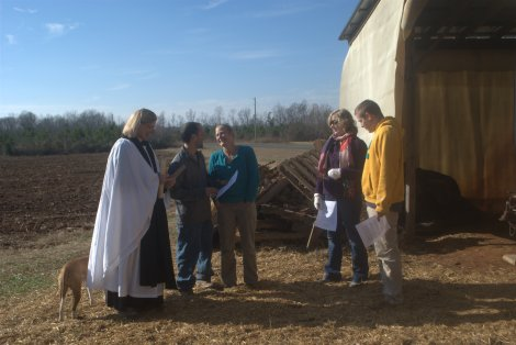 Blessing of the land before breaking ground, 2013.